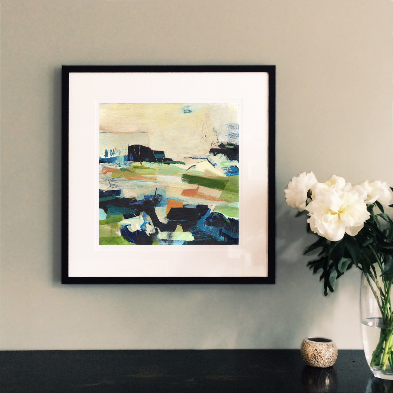 Patchwork Orange\' fine art print – Alice Sheridan