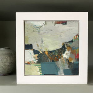 Uplift small abstract painting by Alice Sheridan